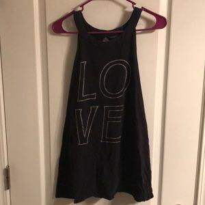 "Black halter ""LOVE"" top"